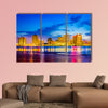 New Orleans, Louisiana, USA skyline on the Mississippi River multi panel canvas wall art