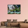 Gorgeous Schleierfall waterfall near Grossglockner in Alps, wall art