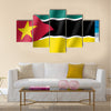 Vector national flag of Mozambique Multi panel canvas wall art