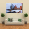 The Trakai Castle In Winter, A Beautiful Print Lithuania, Multi Panel Canvas Wall Art