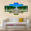 Latona Fountain Garden With Watery Beauty Multi Panel Canvas Wall Art