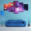 Vibrant Combination of Galaxies and Nebula Multi Panel Canvas Wall Art
