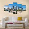 CBD Cityscape With The Price Bridge Over The Yerra River, Melbourne, Multi Panel Canvas Wall Art