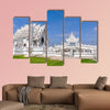 White Temple before the destructing earthquake near Chiang Rai, Thailand multi panel canvas wall art