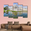 Reflection in White Temple Chiang Rai, Thailand multi panel canvas wall art