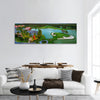Tropical golf course at sunset, Dominican Republic, Panoramic canvas Wall Art