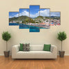 Saint George city port in Grenada, Caribbean Multi panel canvas wall art
