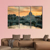 View to bridge and Vatican City at sunset in the Rome, Italy wall art
