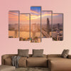 Beauty of sunset sky background over Bangkok city, Thailand wall art