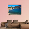 Morning view of the bay with yachts, boats and a beautiful seascape wall art