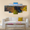 May view on Vltava river, Stechovice dam, Czech Republic Multi panel canvas wall art