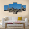 View of the Basilica and Capitoline Temple Multi panel canvas wall art