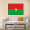 Burkina Faso country flat style flag Multi panel canvas wall art