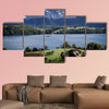 View from Merlischachen over Lake Lucerne multi panel canvas wall art