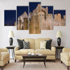 Gravensteen castle in Gent Multi panel canvas wall art