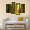 A beautiful forest at dusk multi panel canvas wall art