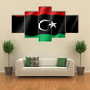 The Vector Illustration Of The Flag Of The Libya, Multi Panel Canvas Wall Art