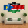 South Sudan flag Multi panel canvas wall art