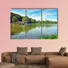 "Pond ""Schlossteich"" in Chemnitz (Germany) multi panel canvas wall art"