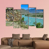 Bend of the turquoise Katun River in a mountain valley beautiful canvas wall art