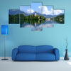 A view of Lake Bled in Slovenia multi panel canvas wall art