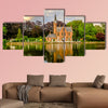 Bruges cityscape with Minnewater Lake, Flanders, Belgium canvas wall art