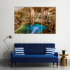 A Cool View Of Cenote Suytun In Mexico, Multi Panel Canvas Wall Art