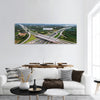 Over Road city highway - Bird eye viwe - drone -Top view Panoramic canvas Wall Art