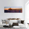 Manhattan Beach Pier at sunset, Los Angeles, California Panoramic canvas Wall Art