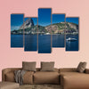 Backlit footage of Sugar Loaf Mountain, Rio de Janeiro multi panel canvas wall art