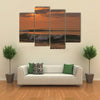 Beautiful sunset at cabo ledo beach Angola With waves Dramatic sky Multi panel canvas Wall art