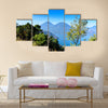 Panorama view of the lake Atitlan and volcanos in the highlands of Guatemala Multi panel canvas wall art