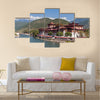Punakha dzong in Bhutan Multi panel canvas wall art