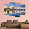 St. Petersburg, Florida, USA downtown city skyline on the bay multi panel canvas wall art