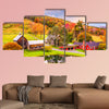 Vermont, USA early autumn rural scene multi panel canvas wall art