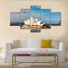 Bennelong Point And Sydney Harbor With Opera House, Australia, Multi Panel Canvas Wall Art