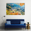 A Fall Season View With Upcoming Autumn Multi Panel Canvas Wall Art