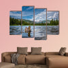 The Mallard Duck Female Lost Lake Colorado low angle multi panel canvas wall art