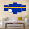 Flag of Nauru Multi panel canvas wall art