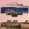 Sunset over Budapest multi panel canvas wall art