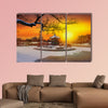 Winter at Gyeongbokgung Palace in Seoul, South Korea multi panel canvas wall art