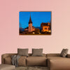 Church in Spiez at night, Spiez, Bern, Switzerland multi panel canvas wall art