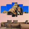 Basilica of Saint Paul near Harissa mounts at Lebanon multi panel canvas wall art