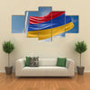 Armenia Flag Is Waving At A Beautiful And Peaceful Sky In Day Time Multi Panel Canvas Wall Art