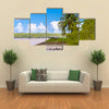 Cannons on the coast of the Suriname River in Suriname, South America Multi Panel Canvas Wall Art