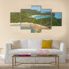 Aquawellness beach bay resort in Nicaragua aerial drone view Multi panel canvas wall art