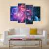 Planet - Amazing Elements of this Image Furnished by NASA Multi Panel Canvas Wall Art