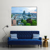 Brussels city skyline at sunset in Belgium Multi panel canvas wall art