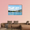 Lake Zurich with city view at daytime in summer multi panel canvas wall art