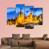 Idyllic landscape with Peles Castle built by Kings of Romania multi panel canvas wall art